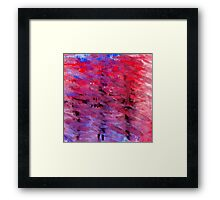Abstract Art in Red and Blue Framed Print