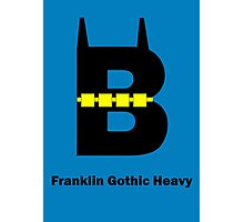 Franklin Gothic Heavy Font Iconic Charactography - B Photographic Print