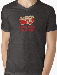 I Shoot People For A Living Camera T shirt Mens V-Neck T-Shirt