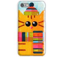 Funny winter cat iPhone Case/Skin
