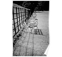 Benches and Fences Poster