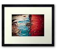 Crown on Oily Water Framed Print