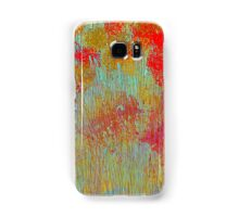 Flowers in Red and Gold Samsung Galaxy Case/Skin