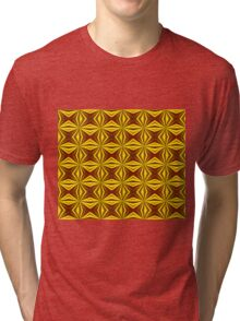 Red and Gold Christmas Abstract Tri-blend T-Shirt