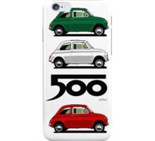 Classic Fiat 500F grey iPhone Case/Skin
