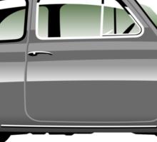 Classic Fiat 500F grey Sticker