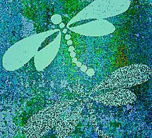 Dragonfly Mosaic by Saundra Myles