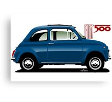 Classic Fiat 500F blue Canvas Print