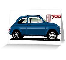 Classic Fiat 500F blue Greeting Card