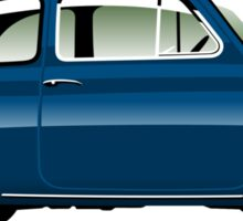 Classic Fiat 500F blue Sticker