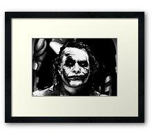The Joker - Heath Ledger  Framed Print