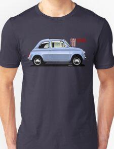 Classic Fiat 500F light blue T-Shirt