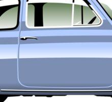 Classic Fiat 500F light blue Sticker
