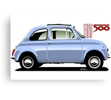 Classic Fiat 500F light blue Canvas Print