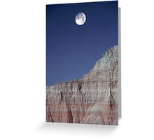 Badlands Moonrise Greeting Card