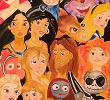 Disney Character Collage by pjp7695