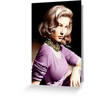 Lauren Bacall, Colour Greeting Card