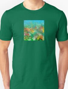 Garden in Red, Yellow, and Green T-Shirt