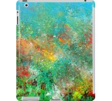 Garden in Red, Yellow, and Green iPad Case/Skin