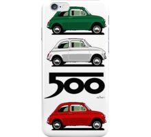 Classic Fiat 500F red iPhone Case/Skin