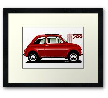 Classic Fiat 500F red Framed Print