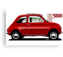 Classic Fiat 500F red Canvas Print