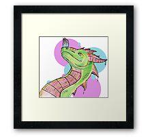 Dragons love Cupcakes! Framed Print