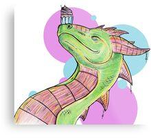 Dragons love Cupcakes! Metal Print