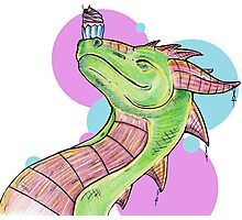 Dragons love Cupcakes! Photographic Print
