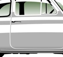Classic Fiat 500F white Sticker