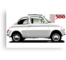Classic Fiat 500F white Canvas Print