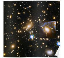 Galaxy Cluster MACS j1149.5+223 And A Supernova Four Times Over - Hubble Space Telescope Poster