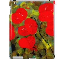 Bright Red Flowers iPad Case/Skin