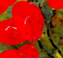 Bright Red Flowers Sticker