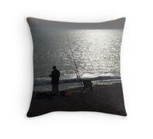 Sea Fishing Throw Pillow