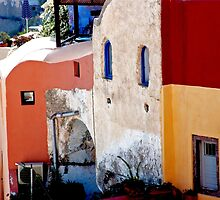 Oia Alley by phil decocco