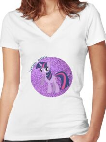 TwilightSparkleGlitter Women's Fitted V-Neck T-Shirt
