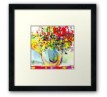 Flowers in Red, Yellow, and Purple Framed Print