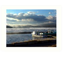 Morning at Margaree Harbour. Art Print