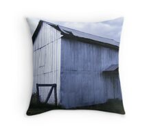 Silver Barn Throw Pillow