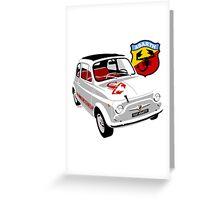 Fiat Abarth 595 Greeting Card