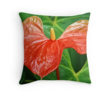 ANTHURIUM FLOWER CAPTURE Throw Pillow