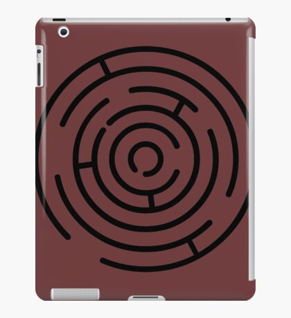 Labyrinth Crop Circle black iPad Case/Skin