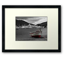 The Red Boat at Cadaques Framed Print