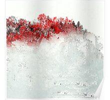 Red Landscape Impressions Poster