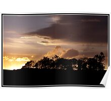 Sunset over Dufftown Poster