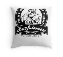 Barf the mog Throw Pillow