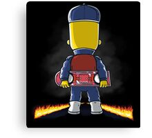 Bart to the Future Canvas Print