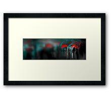 Red Umbrellas Impressionism Framed Print