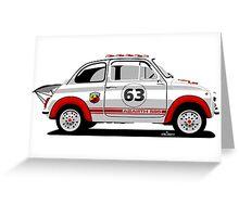 Racing Fiat Abarth 595 Greeting Card